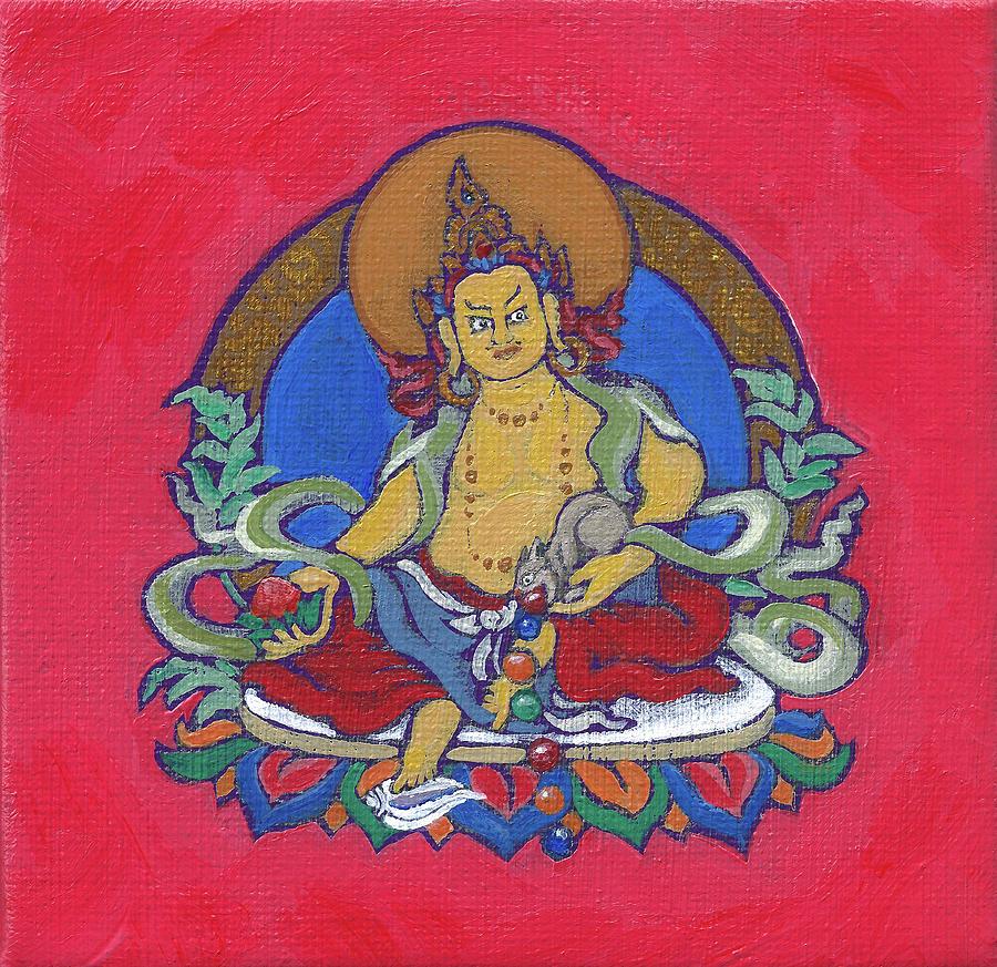 Jambhala Painting - Dzambala the Wealth Buddha by Jennifer Masters