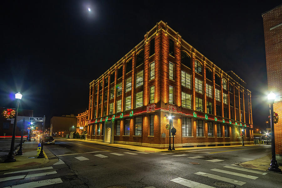 E. W. King Company Building At Christmas Photograph
