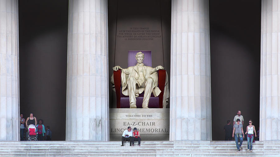 Ea-Z-Chair Lincoln Memorial H D by Mike McGlothlen
