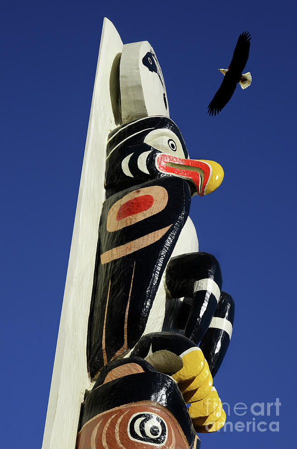 Eagle Photograph - Eagle Totem by Bob Christopher