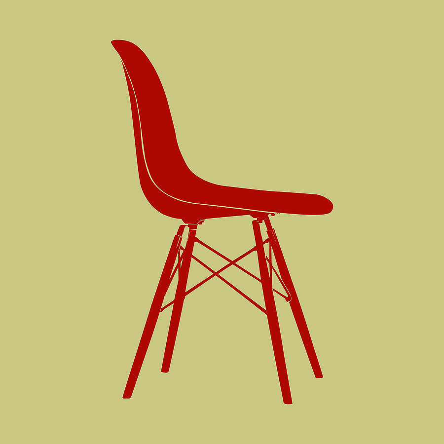Mid-century Digital Art - Eames Plastic Side Chair II by Naxart Studio
