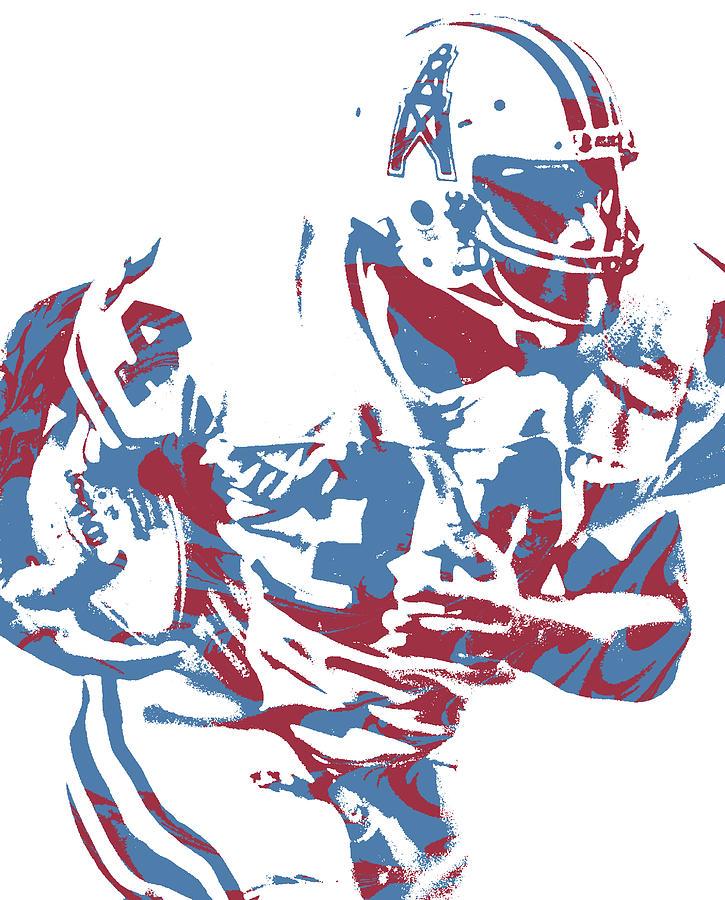 Earl Campbell Houston Oilers Pixel Art 2 Mixed Media By Joe Hamilton