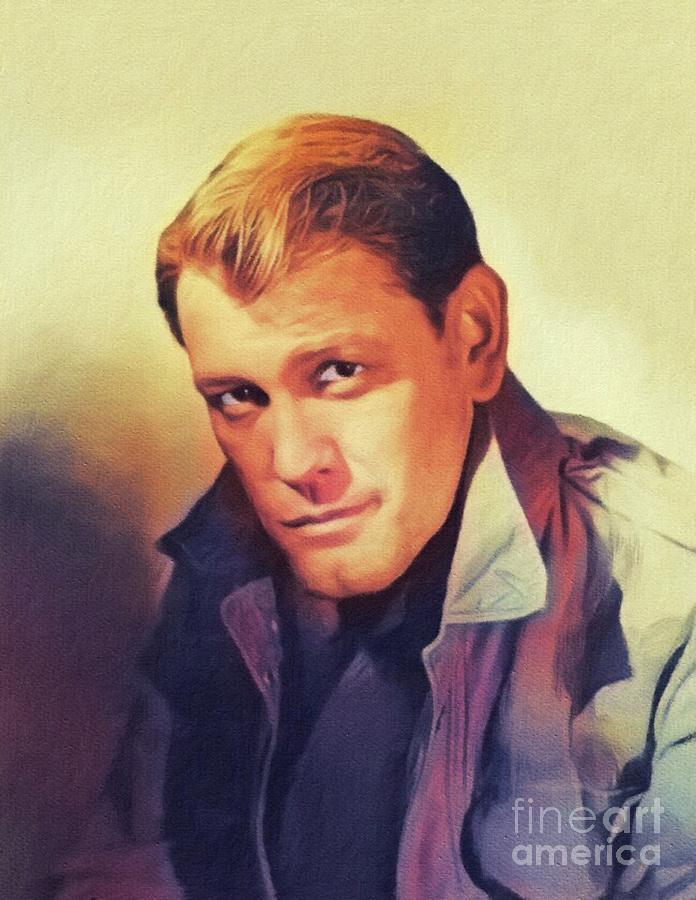 Earl Holliman, Vintage Actor Painting