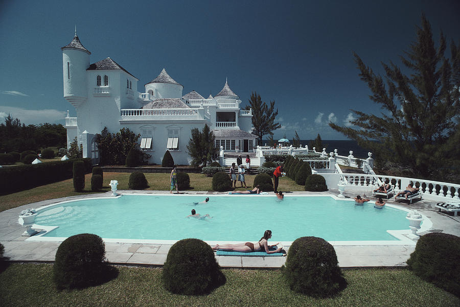 Earl Levys Castle Photograph by Slim Aarons
