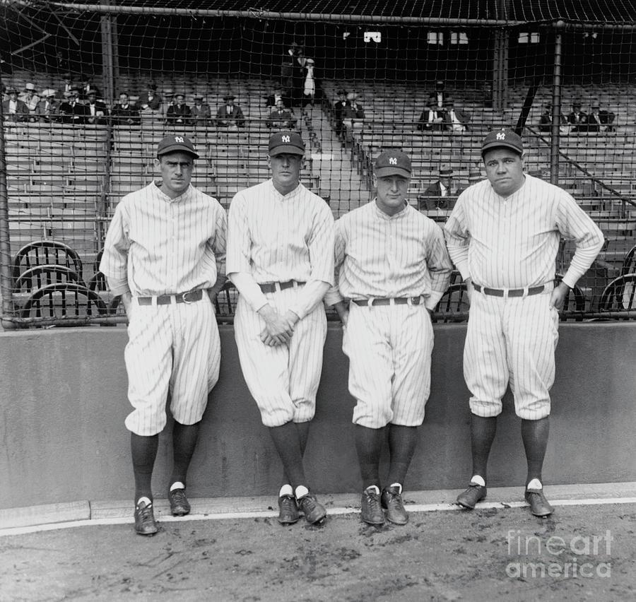Earle Combs, Bob Meusel, Lou Gehrig Photograph by Bettmann