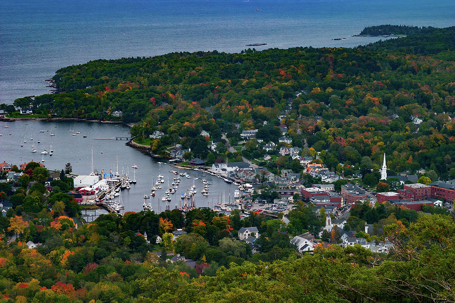 Early Fall Colors of Camden Maine by Jeff Folger