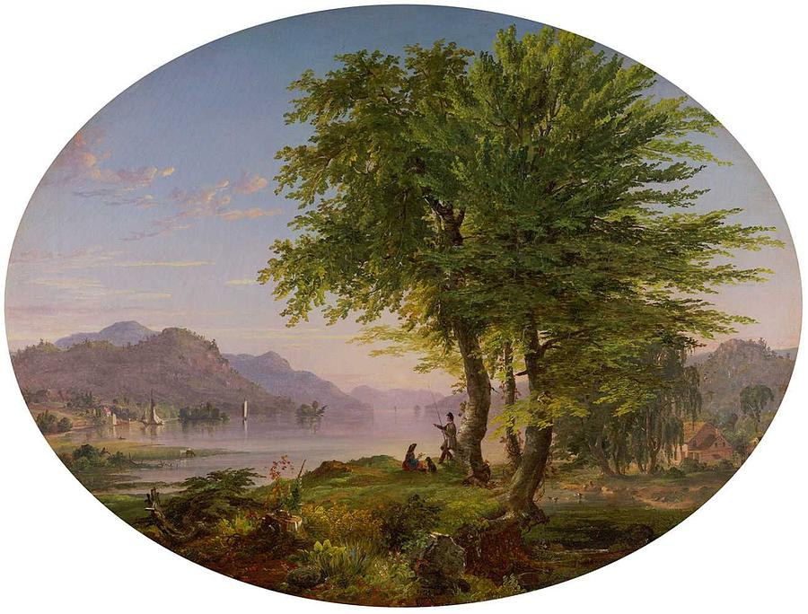 Early Landscape, 1845 By Jasper Francis Cropsey  1823-1900 Painting