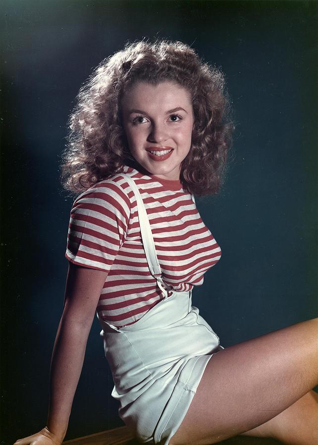 Early Marilyn Portrait Photograph by Michael Ochs Archives