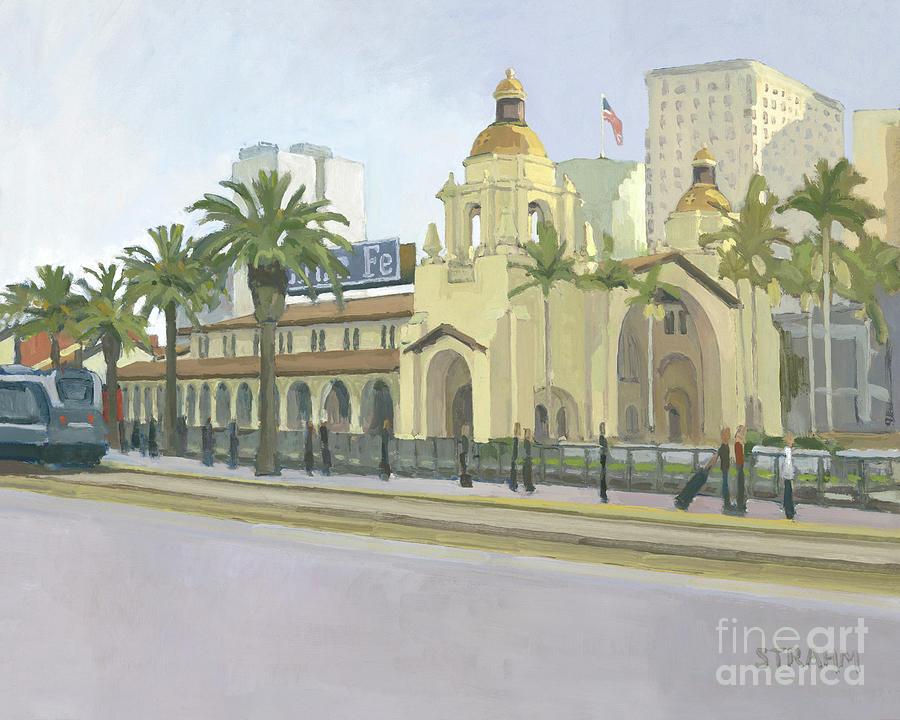 Santa Fe Train Depot San Diego by Paul Strahm
