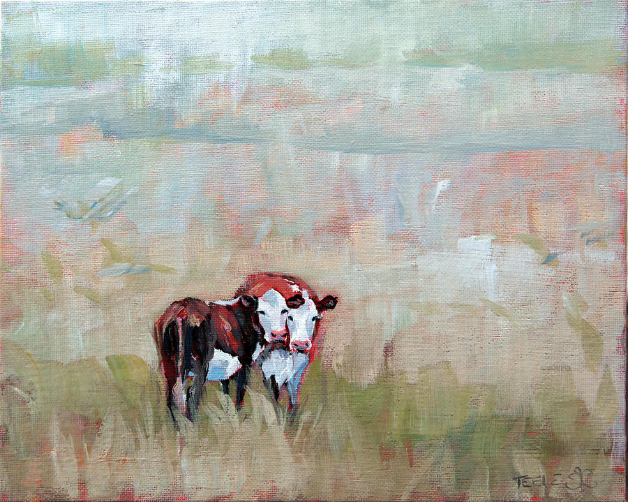 Early Morning Cows by Trina Teele