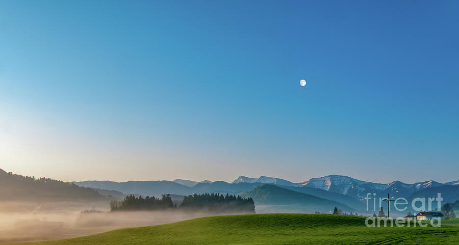 Early morning mist in the mountains. by Ulrich Wende