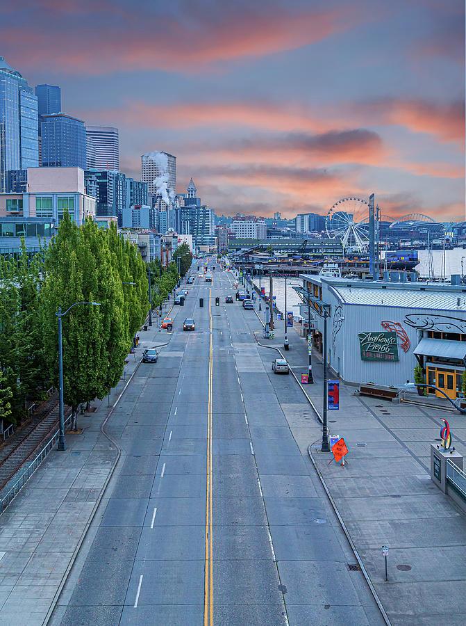 Early Morning on Alaska Way by Darryl Brooks