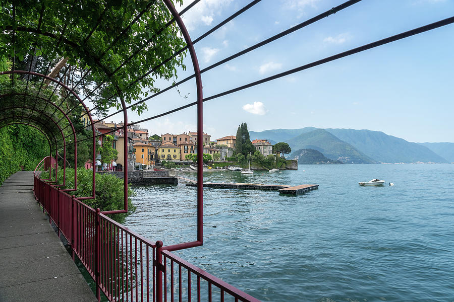 Early Morning on the Lovers Promenade - Charismatic Varenna Lake Como Lombardy Italy by Georgia Mizuleva