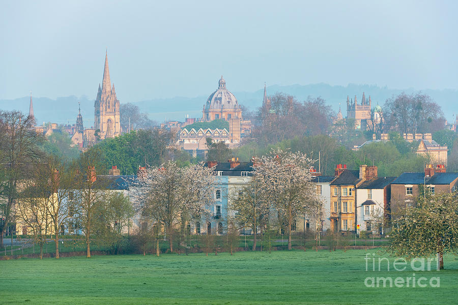 Oxford City Centre Photograph - Early Morning Oxford In Spring by Tim Gainey