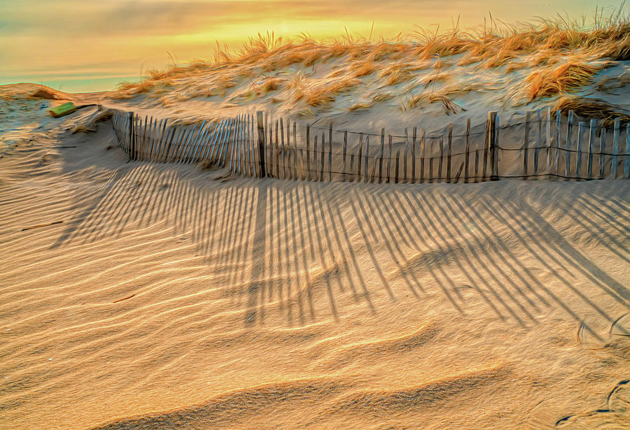 Early Morning Shadows At The Sand Dune by Gary Slawsky