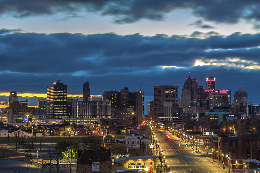 Early morning twilight in Detroit by Jay Smith