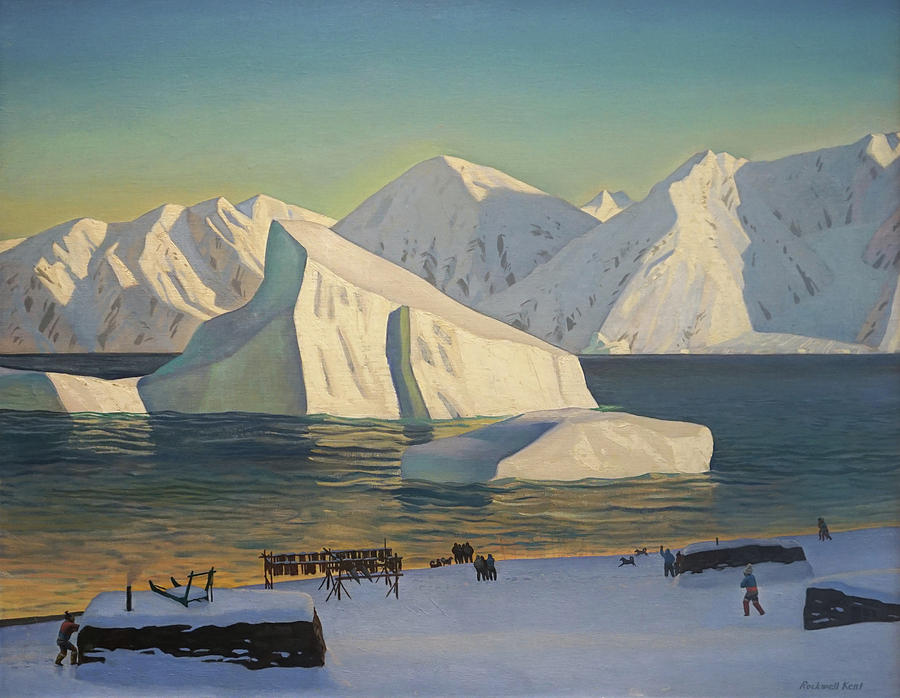 Icebergs Painting - Early November North Greenland by Rockwell Kent