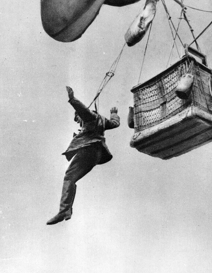 Early Parachute Photograph by Three Lions