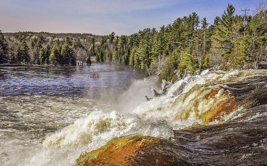 Early Spring At High Falls by Andrew Wilson