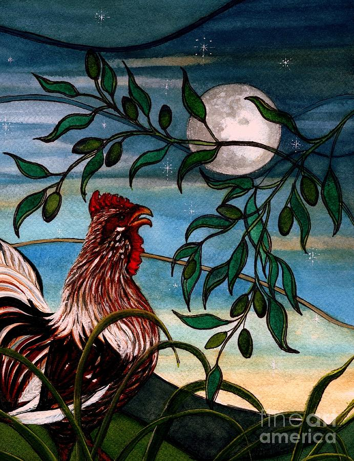 Early to Rise - Rooster Crowing  by Janine Riley