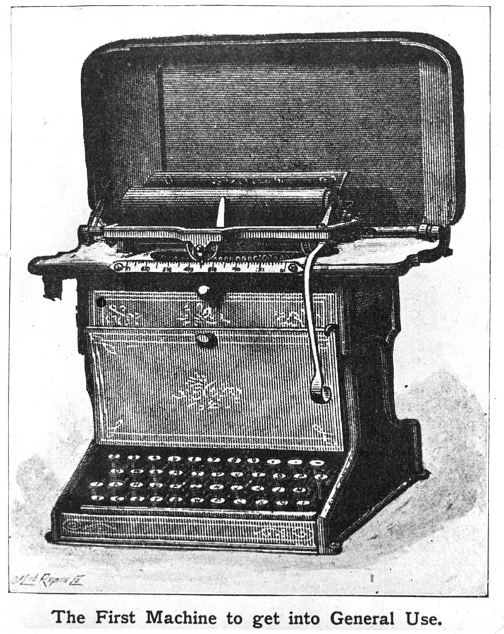 Early Typewriter Photograph by Hulton Archive