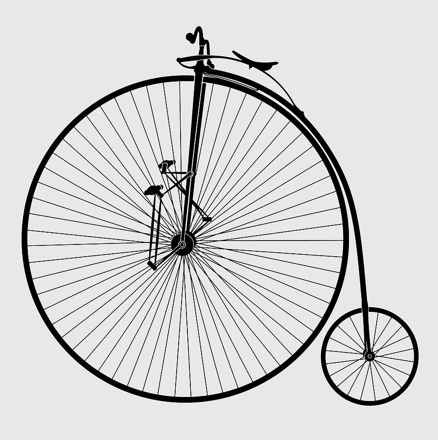 Early Velocipede Bicycle - Version 2 - T-shirt Digital Art by Daniel ...