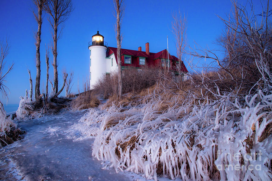Point Photograph - Early Winter at Point Betsie by Twenty Two North Photography