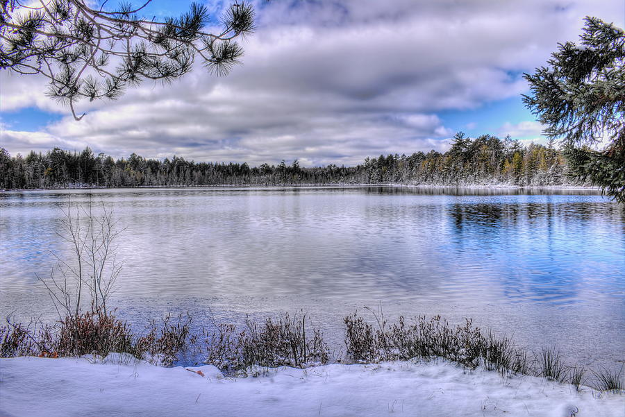 Early Winter On Swanson Lake Photograph