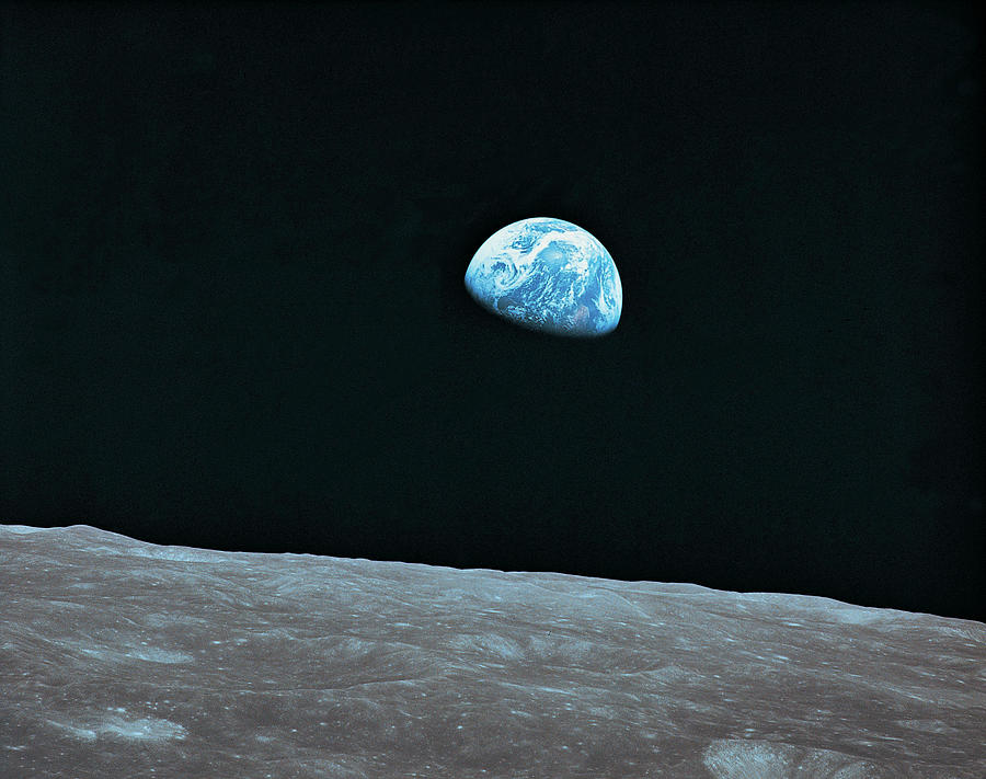 Earth And Lunar Landscape Photograph by Digital Vision.