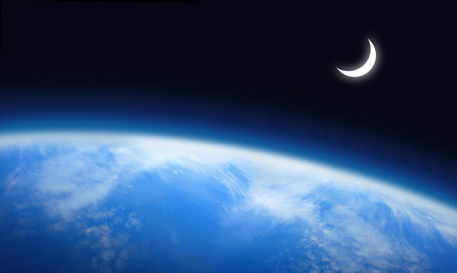 Earth And Moon Photograph by Narvikk