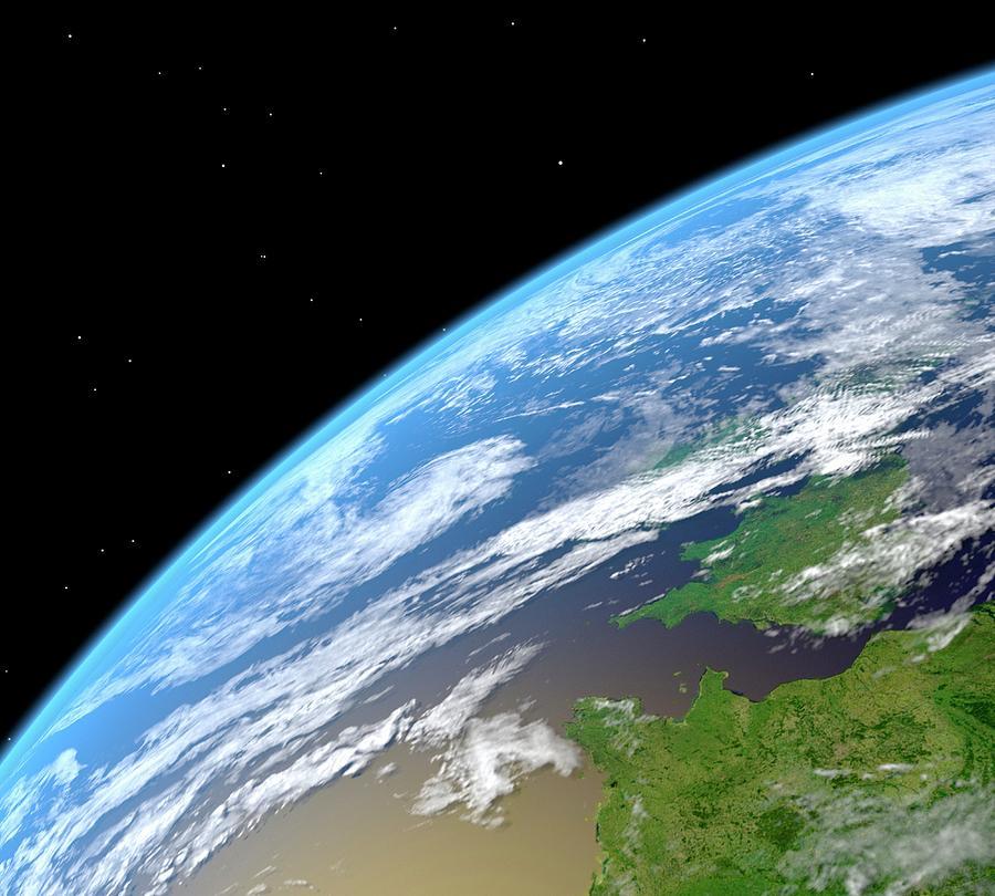Earth, Artwork Digital Art by Roger Harris/spl