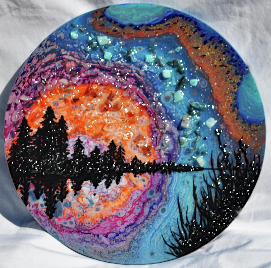 Earth Gems #19W160 round by Lori Sutherland