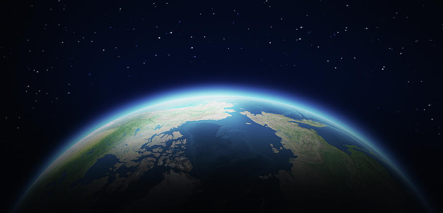 Earth In Space Photograph by Loops7