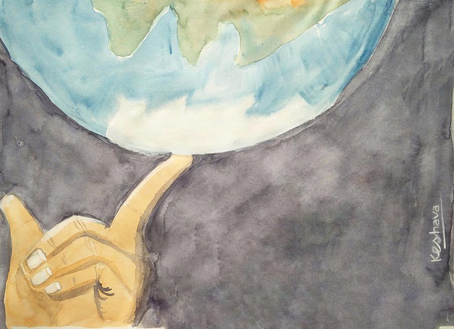Finger Painting - Earth by Keshava Shukla