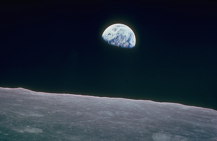Earth Rising Over Curvature Of The Moon Photograph by Nasa