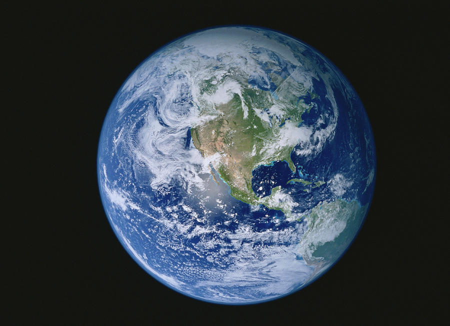 Earth With North America Prominent Photograph by Stocktrek