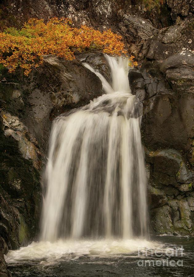 Eas Chia-aig Waterfall Photograph