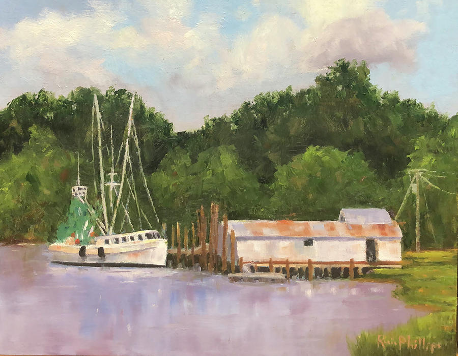Shrimp Painting - East Coast Seafood Company by Rosie Phillips