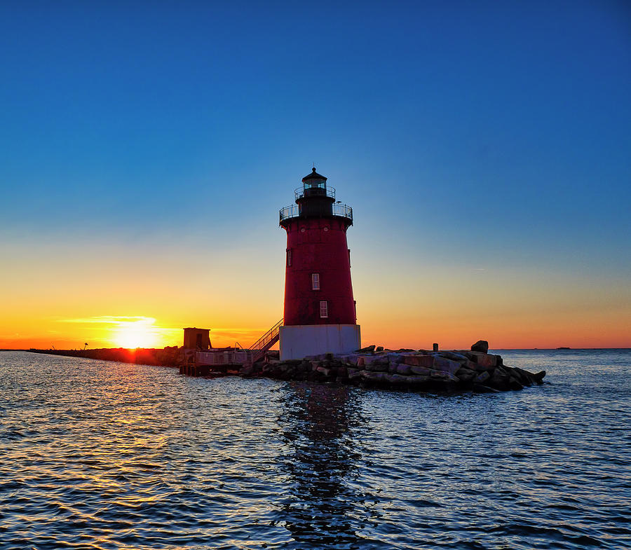 East End Light at Sunset by David Kay