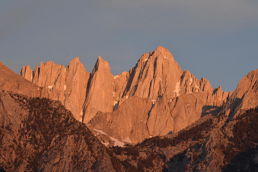East Face of Mt. Whitney in Morning Light by Ben Foster