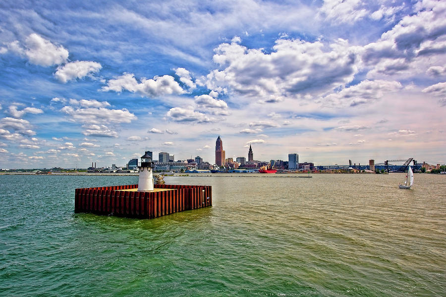 Architecture Photograph - East Pierhead Lighthouse View Of Cleveland by Marcia Colelli