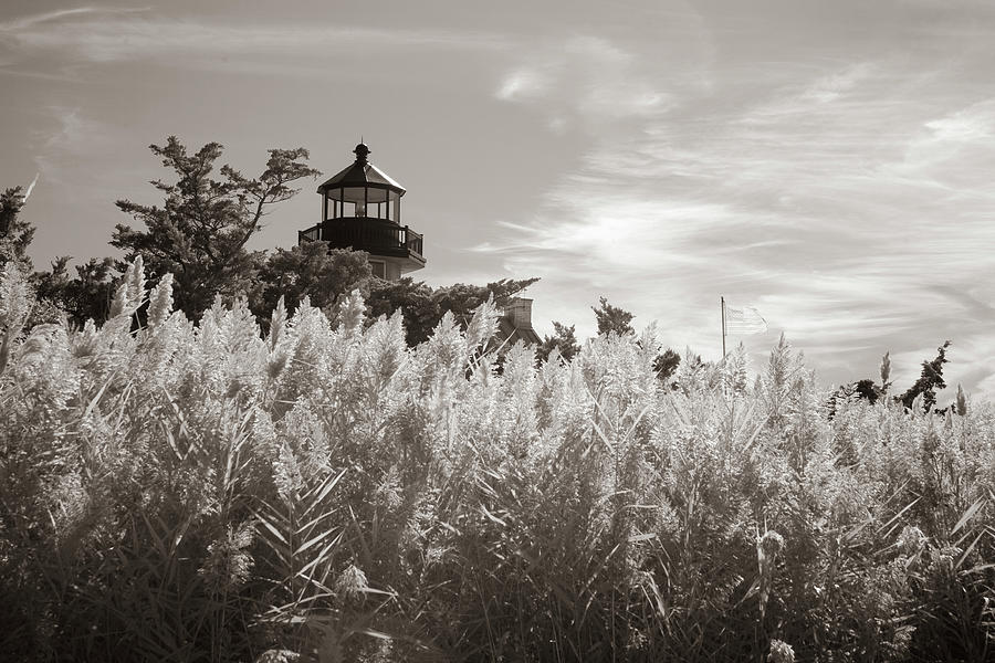 East Point Lighthouse in sepia by Karen Foley