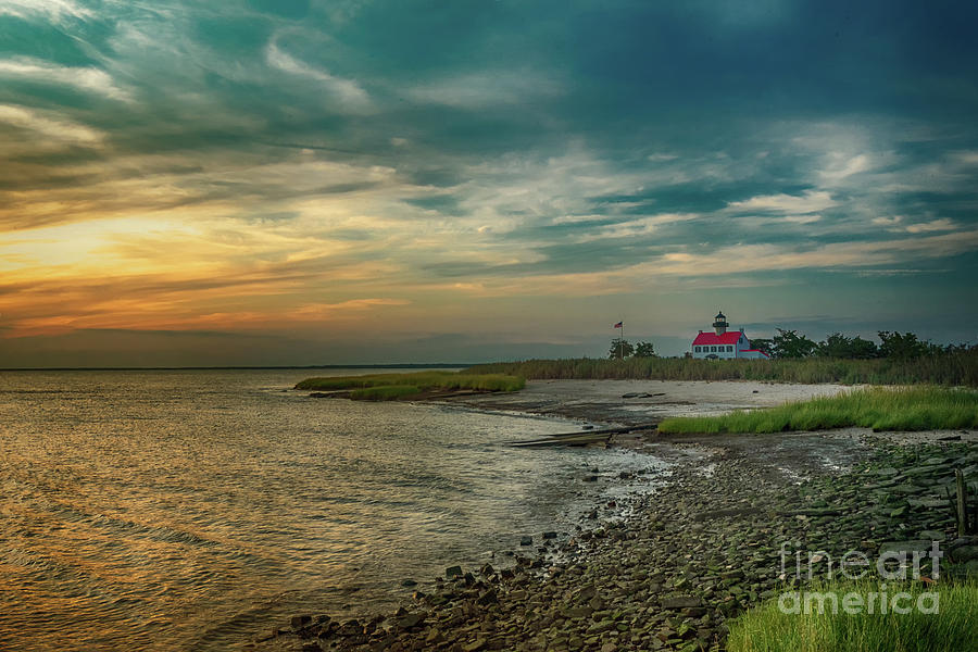 East Point Lighthouse Sunset II by Debra Fedchin