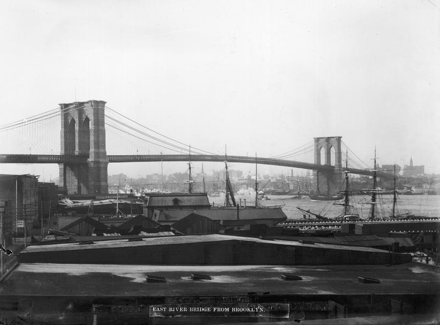 East River Bridge Photograph by P. L. Sperr
