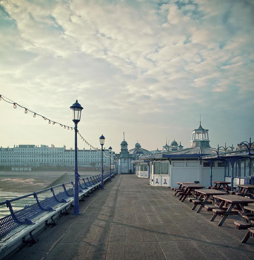 Eastbourne Pier Promenade Photograph by Paul Grand Image