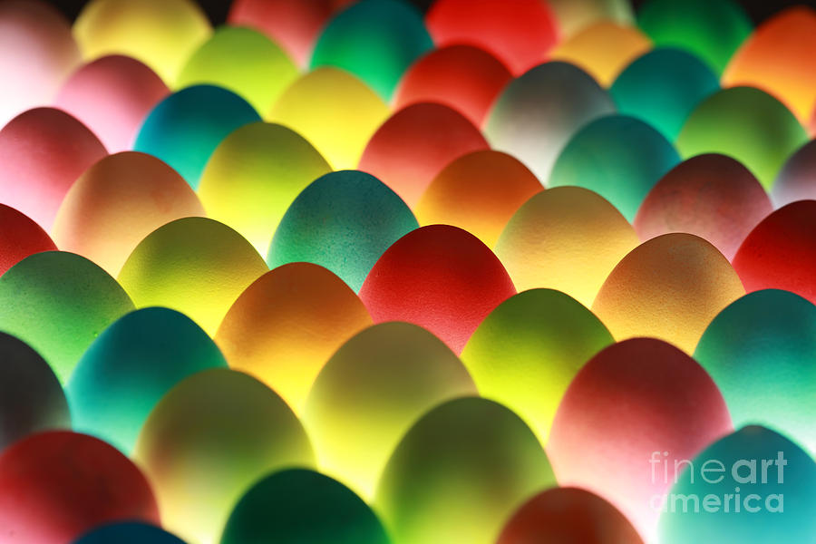 Religious Photograph - Easter Eggs Background by Shulevskyy Volodymyr
