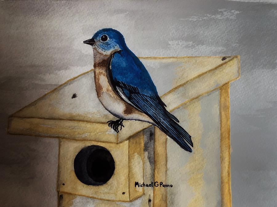 Eastern Bluebird Painting
