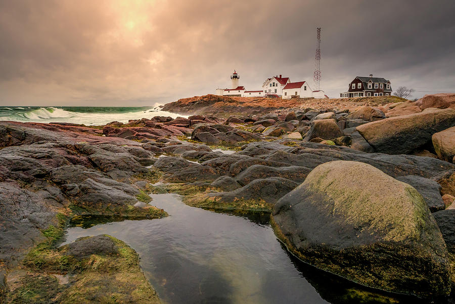 Eastern Point Lighthouse at Sunset by Thomas Gaitley