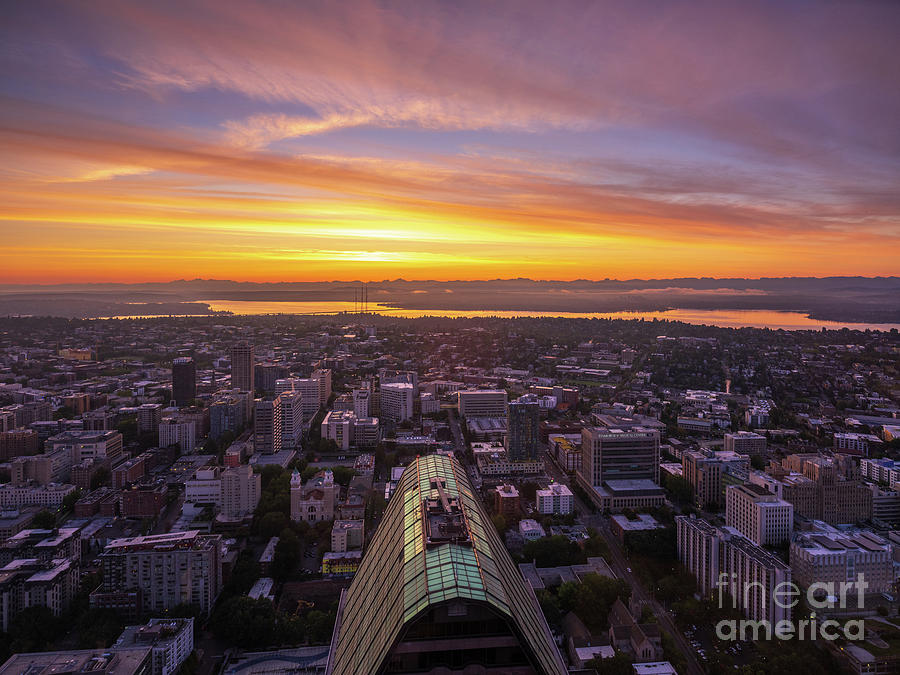 Eastside Sunrise From Seattle Photograph