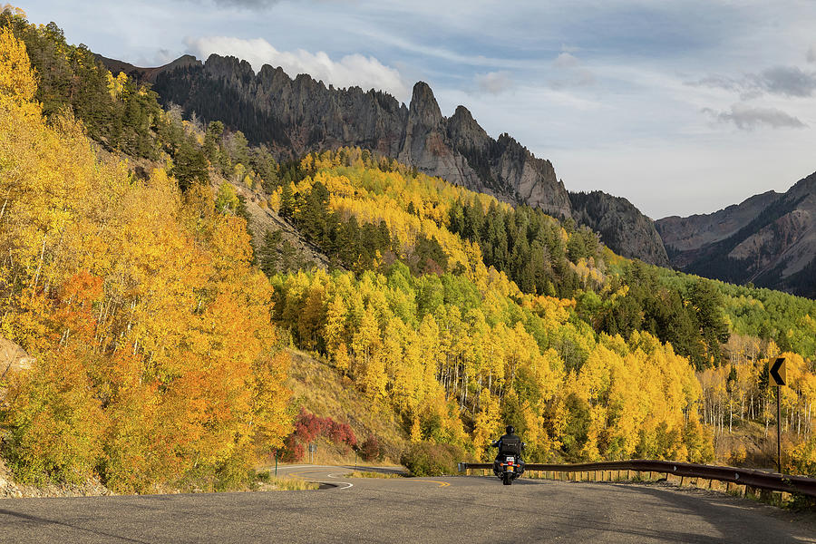 Motorcycle Photograph - Easy Autumn Rider by James BO Insogna